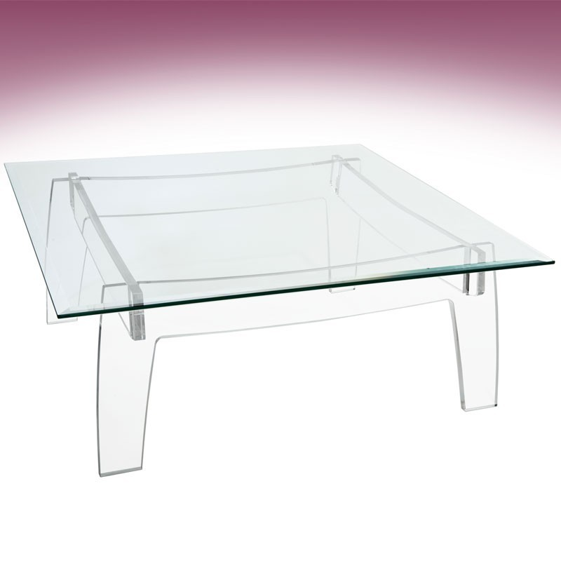 meubles plexiglass table basse kyoto carr e. Black Bedroom Furniture Sets. Home Design Ideas