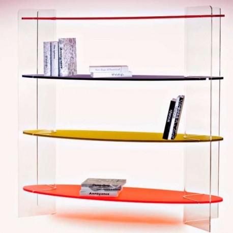 meubles plexiglass biblioth que marina ii incolore tag res en couleurs. Black Bedroom Furniture Sets. Home Design Ideas