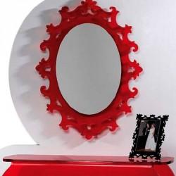Miroir BAROQUE ovale incolore