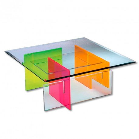 tables basses plexiglass table basse rietveld fluo. Black Bedroom Furniture Sets. Home Design Ideas