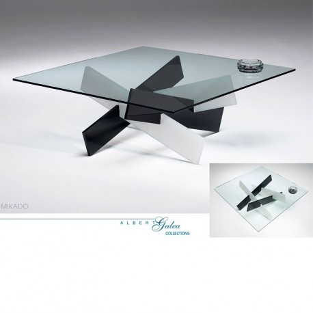Plexiglass Mikado Tables Basses Basse Table Carrée Incolore oexrdBWC