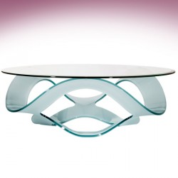 Coffee table MARBELLA black glass