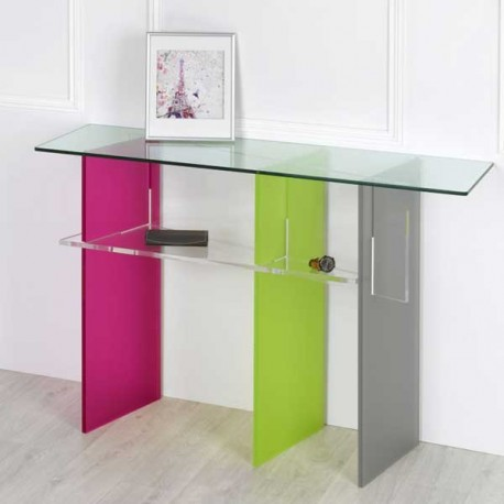 meubles plexiglass console trio couleur design by olivier toulouse. Black Bedroom Furniture Sets. Home Design Ideas