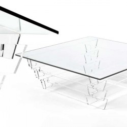 Coffee table BABEL clear