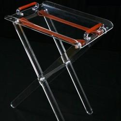 Table X pliante incolore