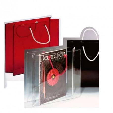 accessories plexi magazine rack sac clear rstring handles. Black Bedroom Furniture Sets. Home Design Ideas