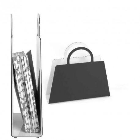 Magazine rack BAG black or white