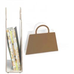 Magazine rack BAG high black or white