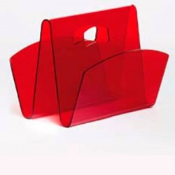 Magazine rack WEEK red