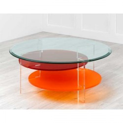 Table basse MIKADO carrée couleurs