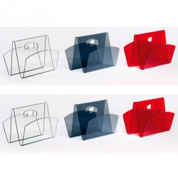 Set of 3 Magazine racks WEEK red