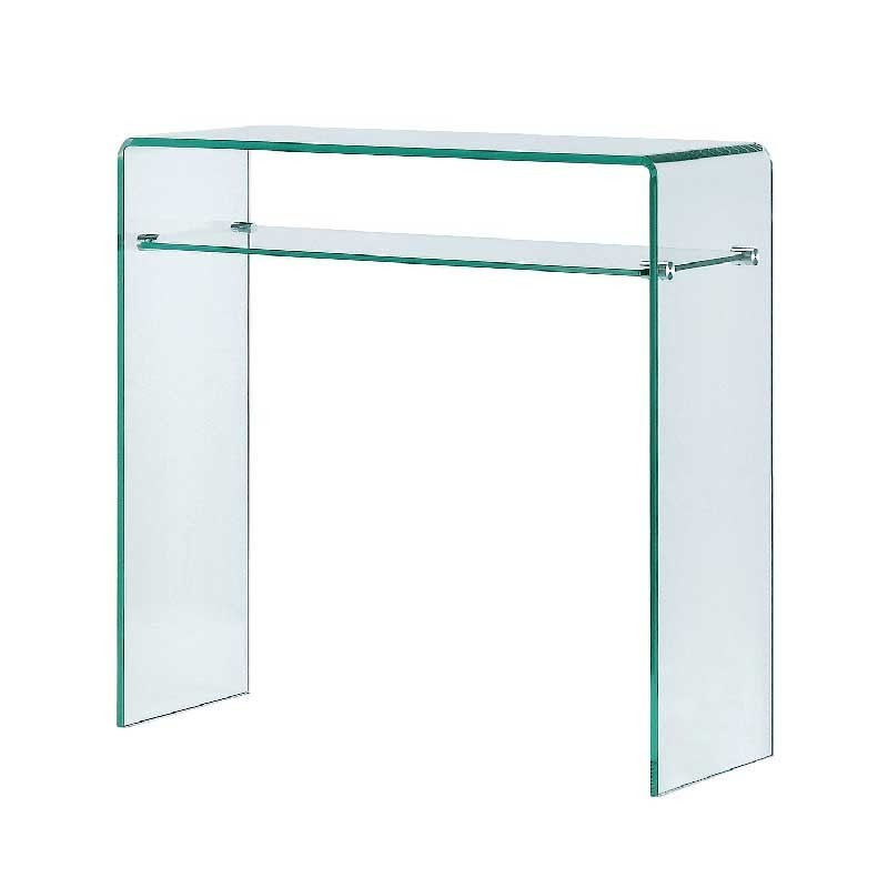 Meubles galea selection console eco 2 verre fum gris - Table basse en plexi ...
