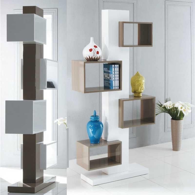 meubles galea selection biblioth qu totem blanche. Black Bedroom Furniture Sets. Home Design Ideas