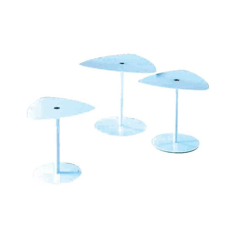 Chaises plexiglass table repas eko ronde for Table repas ronde