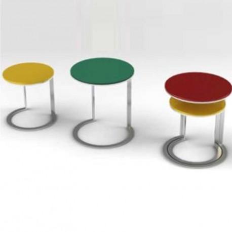 Meubles galea selection tables gigognes kenny verre laqu for Tables gigognes verre