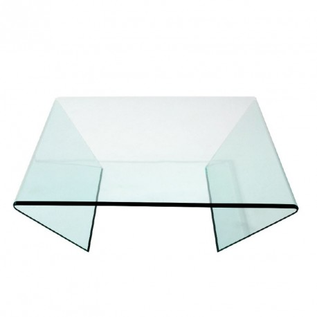 Tables Basses Galea Selection Table Basse Easy Carree Verre Extra Blanc
