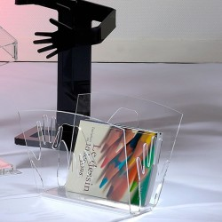Magazine rack HAND-UP clear