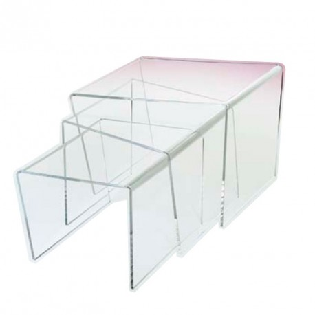 meubles plexiglass jeu 3 tables gigognes jerk. Black Bedroom Furniture Sets. Home Design Ideas