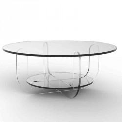 Table basse ULO ronde bicolore