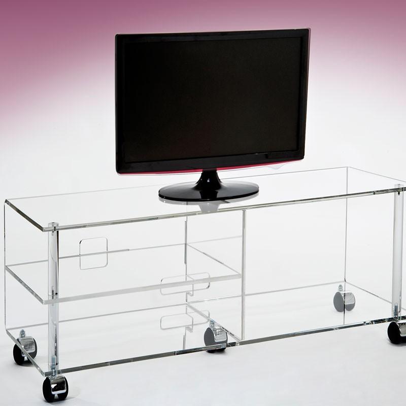 meubles plexiglass meuble tv plasma jonc incolore. Black Bedroom Furniture Sets. Home Design Ideas