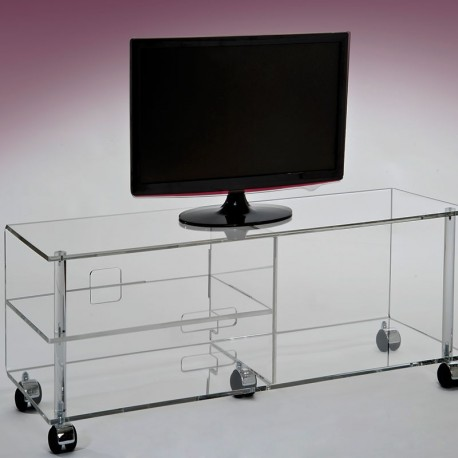 meubles plexiglass meuble tv plasma jonc gris. Black Bedroom Furniture Sets. Home Design Ideas