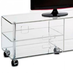 FLAT SCREEN TV rack JONC clear small width