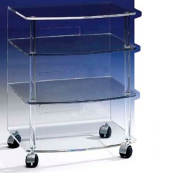 HI-FI-TV rack JONC clear