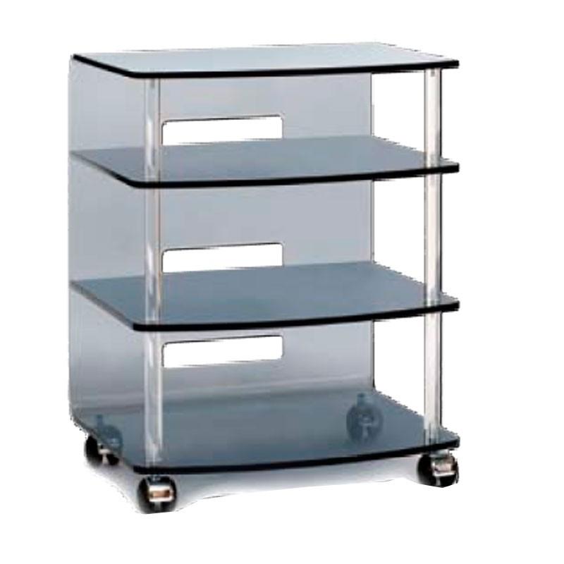 meubles plexiglass meuble tv hi fi jonc gris. Black Bedroom Furniture Sets. Home Design Ideas