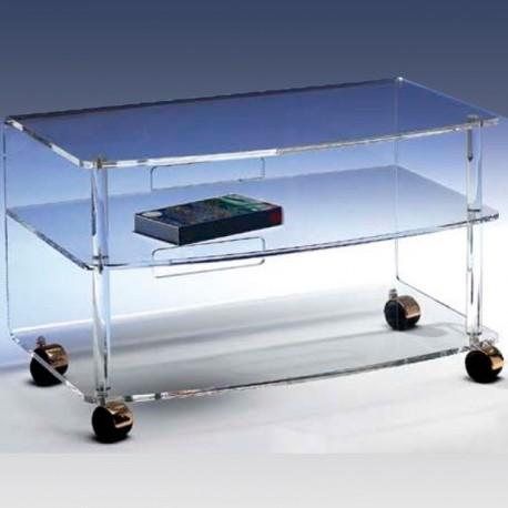 prix le plus bas f50fe c1496 Meubles plexiglass - Meuble TV JONC incolore