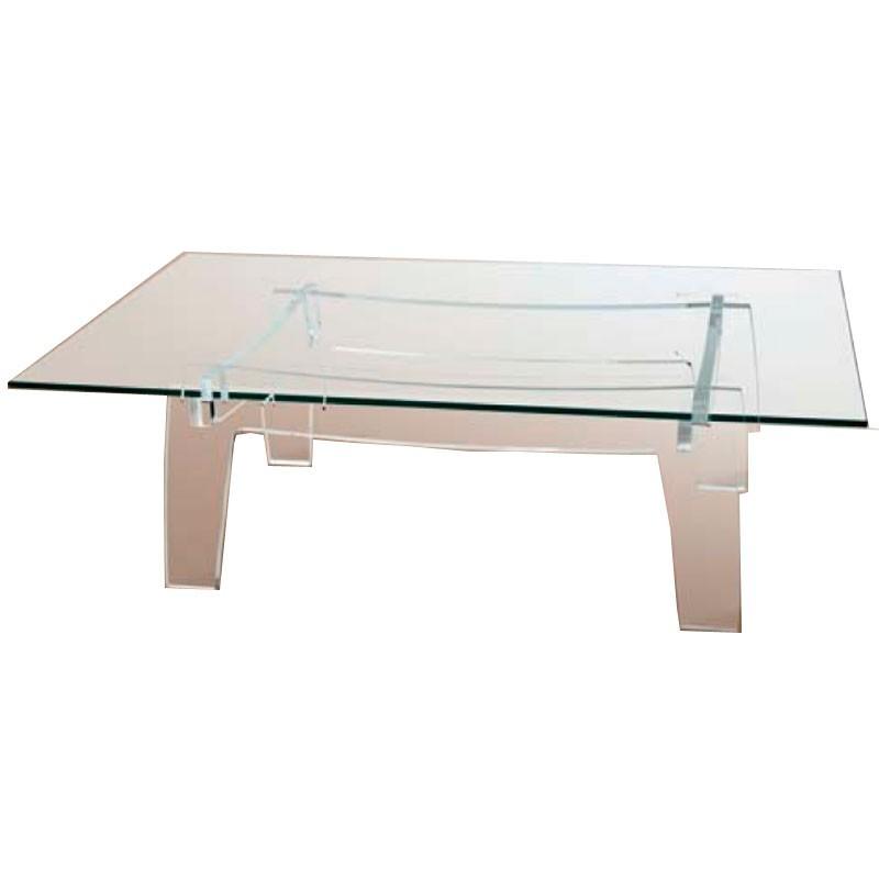 Meubles plexiglass table basse kyoto rectangle - Table basse rectangle ...